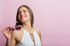 Happy woman in love Royalty Free Stock Photo