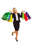 Happy woman with many shopping bags Royalty Free Stock Photography