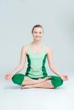 Happy woman meditating Royalty Free Stock Photography