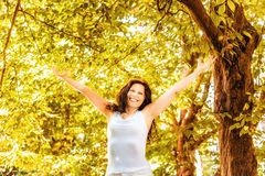 Happy woman in menopause Royalty Free Stock Image