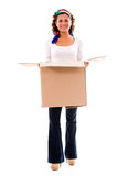 Happy woman moving Royalty Free Stock Photography