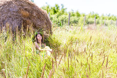 Happy woman on natural background Stock Photography