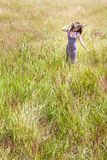 Happy woman on natural background Royalty Free Stock Photo