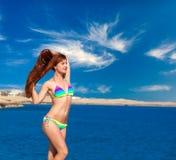 Happy woman near the sea Royalty Free Stock Photos