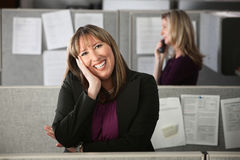 Happy Woman Office Worker Stock Photos