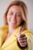 Happy woman ok smiling successful Stock Photo