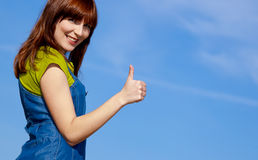 Happy woman on outdoor Stock Image