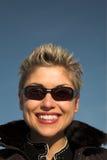 Happy woman outdoor Stock Image