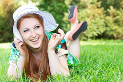 Happy woman outdoor Royalty Free Stock Photos