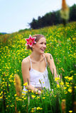 Happy woman outdoor Royalty Free Stock Photo