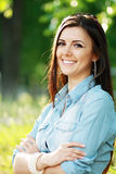 Happy woman outdoor Royalty Free Stock Images