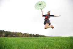 Happy woman outdoors Royalty Free Stock Photography