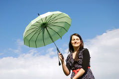 Happy woman outdoors Royalty Free Stock Photos