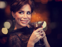 Happy woman on the party Royalty Free Stock Photography