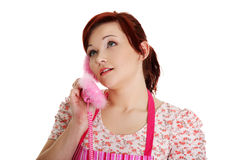 Happy woman on the phone. Stock Photography