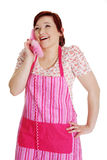 Happy woman on the phone. Stock Photo