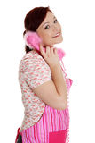 Happy woman on the phone. Royalty Free Stock Image