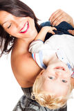 Happy woman playing with child boy Royalty Free Stock Image