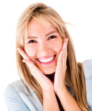 Happy woman portrait Royalty Free Stock Photo