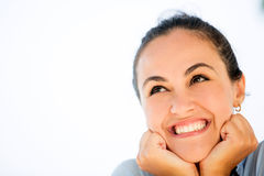Happy woman portrait Royalty Free Stock Photos