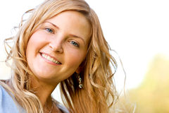 Happy woman portrait Royalty Free Stock Image