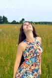 Happy woman portrait Stock Photo