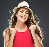 Happy woman portrait. toothy smile. Royalty Free Stock Photography