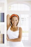 Happy woman posing at home Stock Photography