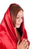 Happy Woman Praying Stock Image