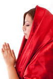 Happy Woman Praying Stock Photography