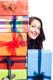 Happy woman with presents Stock Photo