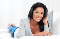 Happy woman relax Royalty Free Stock Images