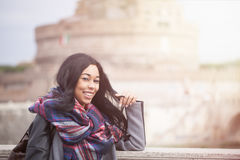 Happy Woman In Rome Royalty Free Stock Photography