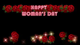 HAPPY WOMAN`S DAY stock video