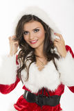 Happy woman Santa helper Royalty Free Stock Photo