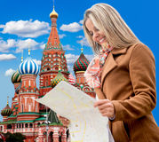 Woman in Moscow Stock Photography