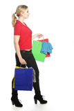 Happy woman shopper Royalty Free Stock Image