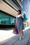 Happy woman after shopping Royalty Free Stock Image