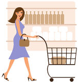 Happy woman shopping Royalty Free Stock Photos