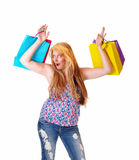 Happy woman with shopping bags. Royalty Free Stock Photo