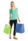 Happy Woman With Shopping Bags Stock Photography