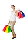 Happy woman with shopping bags Royalty Free Stock Photo