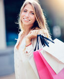 Happy Woman Shopping Royalty Free Stock Image
