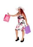 Happy woman shopping. Stock Image