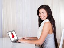 Happy woman shopping online Royalty Free Stock Photo