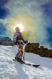 Happy woman on ski vacation Royalty Free Stock Images