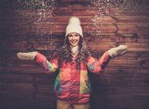 Happy woman in ski wear Royalty Free Stock Photo