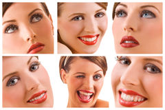 Happy woman smiles Royalty Free Stock Image