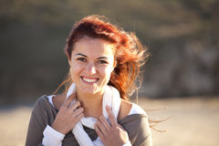 Happy woman smiling Stock Photos
