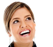 Happy woman smiling Stock Image
